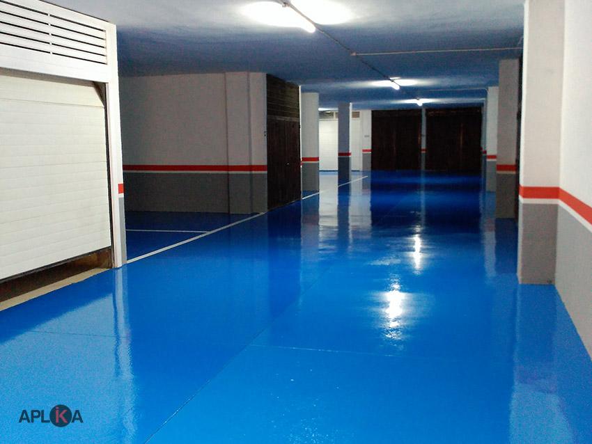 Tratamientos de resina epoxi en suelos de parking y - Suelo para garaje ...